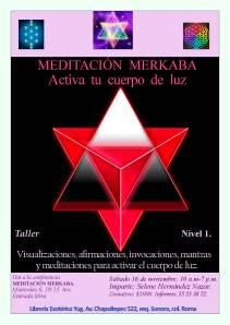 póster taller Meditación Merkaba