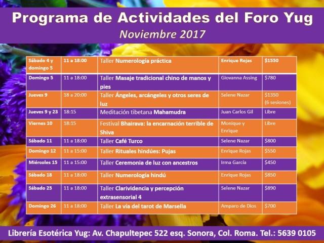 Actividades noviembre 2017