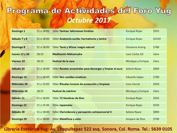 Actividades octubre 2017