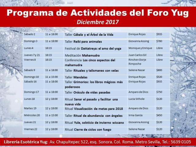 Actividades diciembre 2017