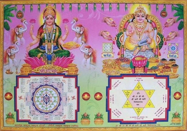 yantra lakshmi y kubera